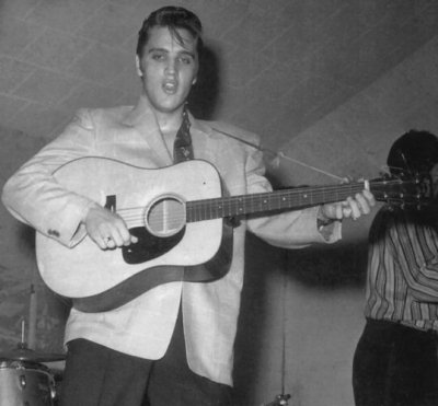 Elvis Playing His 2nd D18 In Ft Worth TX April 20 1956 Photo Courtesy Steve Bonner