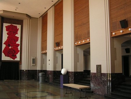 The lobby in Robinson Auditorium Little Rock AR - July 25 2008. Photo © Frankie Rider II & Scotty Moore - Robinson Auditorium - Little Rock AR