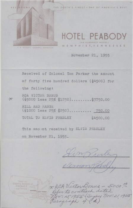 Scotty Moore First Rca Contract For Elvis