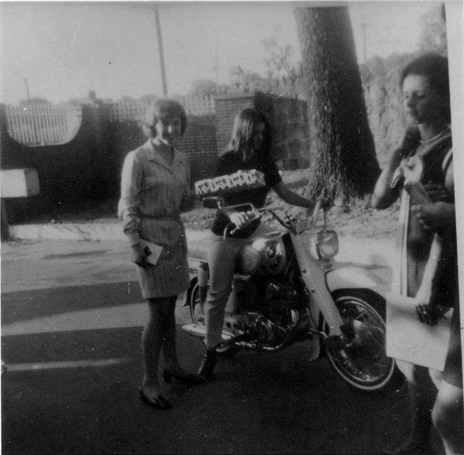 scotty moore elvis presley s 1965 honda dream ca77 priscilla on her white honda dream ca77 at graceland ca 1969 photos courtesy and web