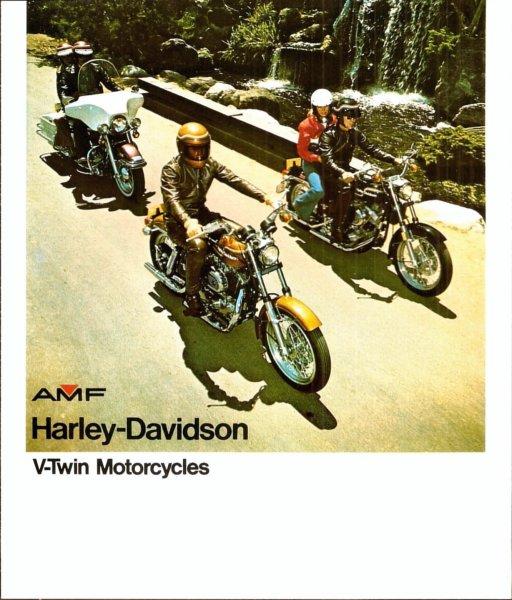1973 HARLEY DAVIDSON FLH-1200 MOTORCYCLE BROCHURE FLYER VINTAGE ORIGINAL